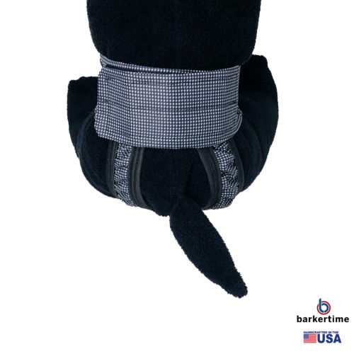 black and white gingham waterproof diaper pull-up - model 2