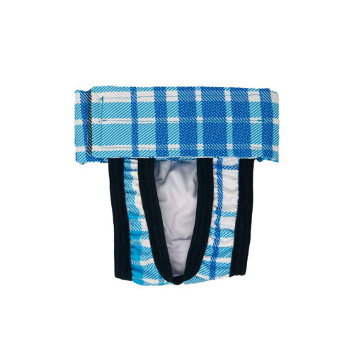 blue plaid waterproof diaper pull-up