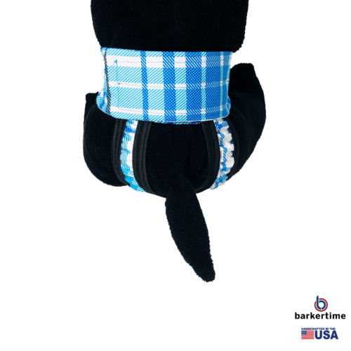 blue plaid waterproof diaper pull-up - model 2