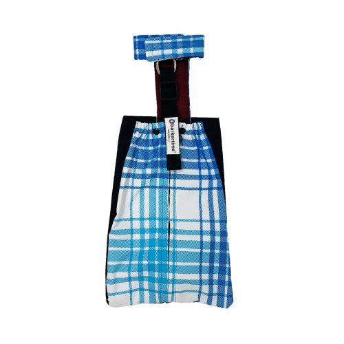 blue plaid waterproof drag bag