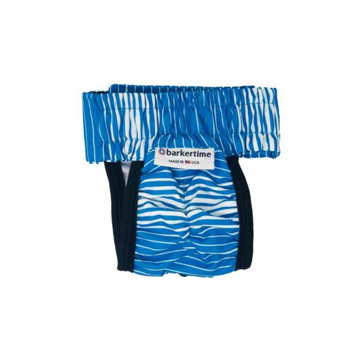 blue stripes waterproof diaper pull-up - back