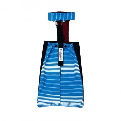 blue stripes waterproof drag bag