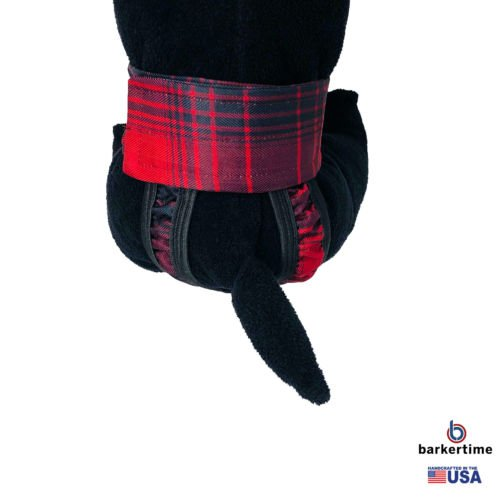 red plaid waterproof diaper pull-up - model 2