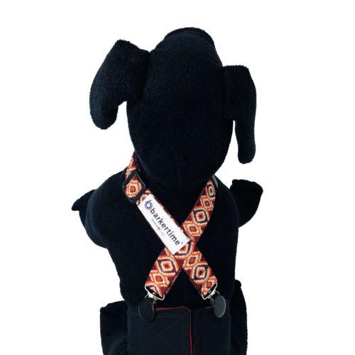 red tribal diaper suspender - model
