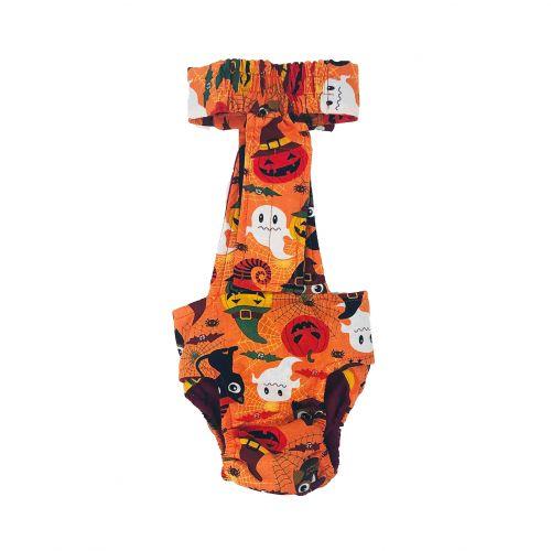halloween diaper overall - back