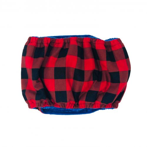 buffalo plaid belly band - back