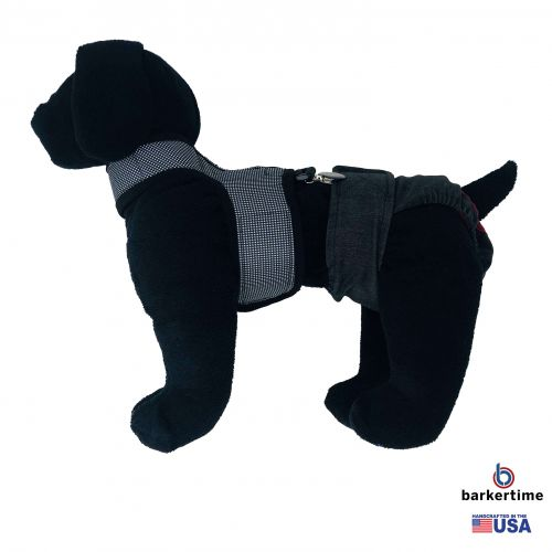 gingham suspender harness - model 1