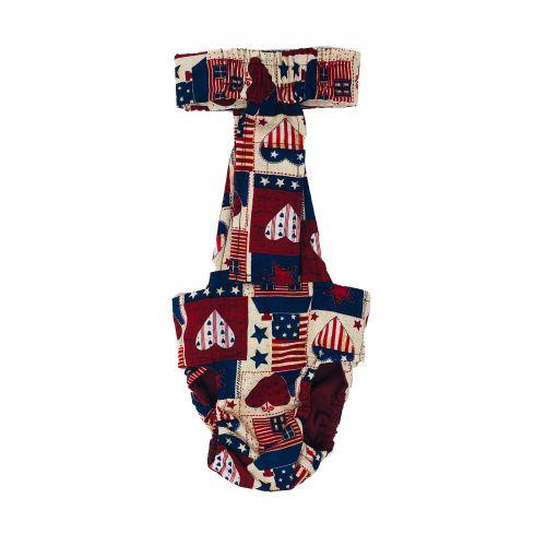 patriotic hearts diaper overall - back