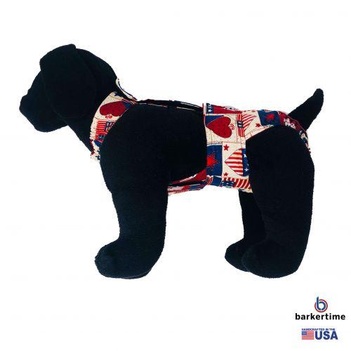 patriotic hearts diaper overall - model 1