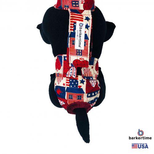 patriotic hearts diaper overall - model 2