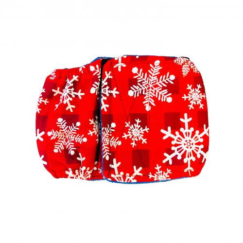 snowflakes on buffalo plaid belly band