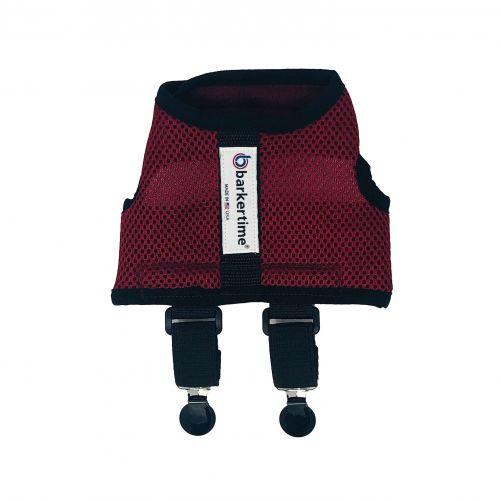burgundy mesh suspender harness