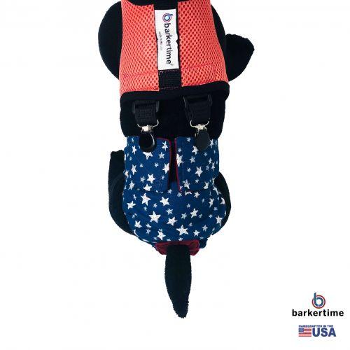 pink salmon mesh suspender harness - model 2