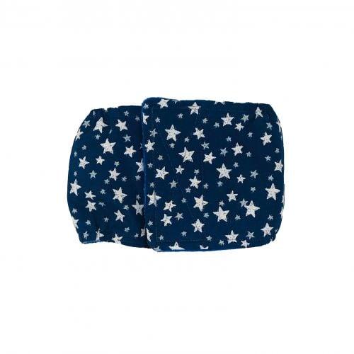 white stars on navy blue belly band