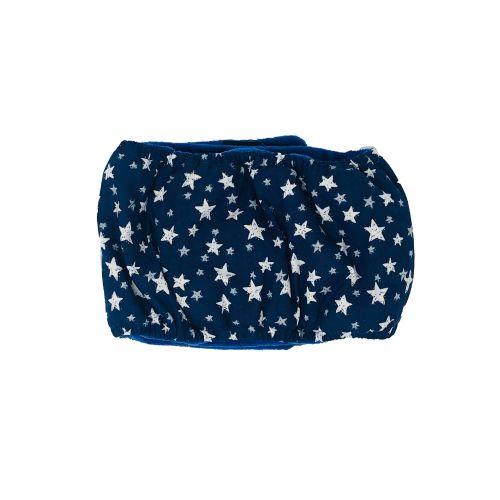 white stars on navy blue belly band - back