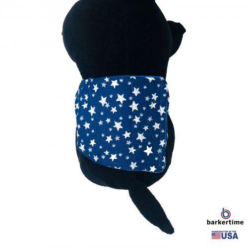white stars on navy blue belly band - model 2