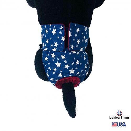 white stars on navy blue diaper - model 2