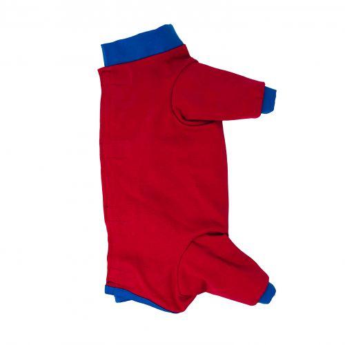 cherry red with blue cuff peejama long sleeve