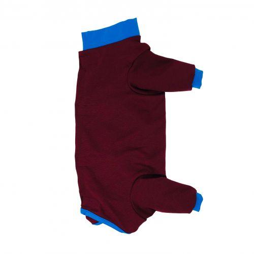 merlot red with blue cuff peejama long sleeve