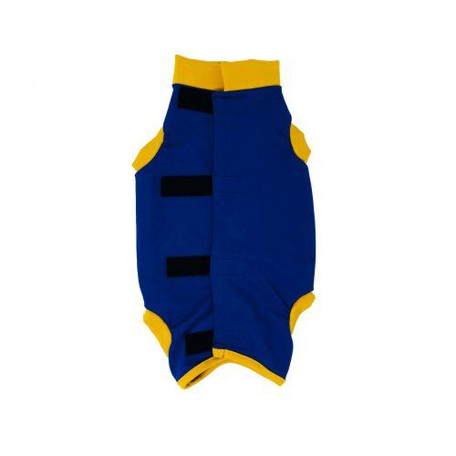royal blue with yellow cuff peejama short sleeve