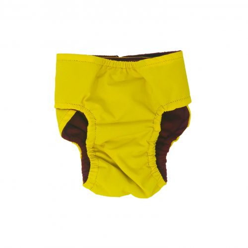 yellow waterproof diaper - back