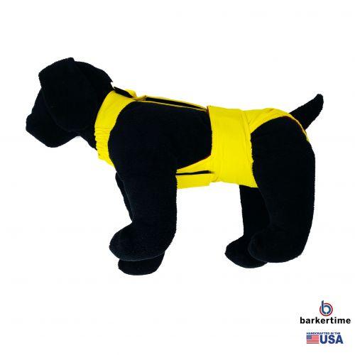 yellow waterproof diaper overall - model 1
