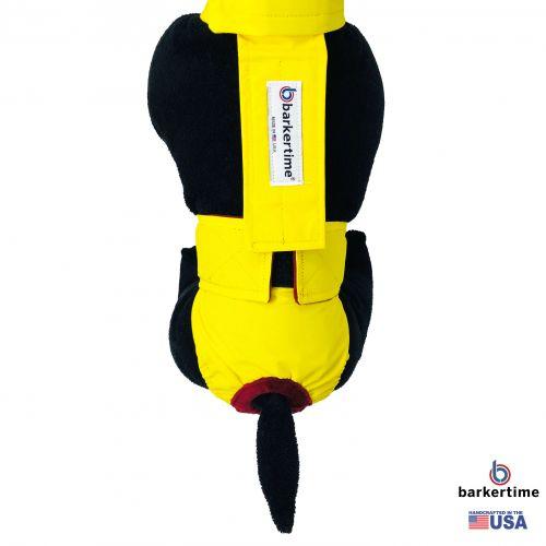 yellow waterproof diaper overall - model 2